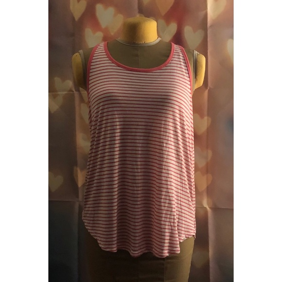 Volcom Tops - Pink and White Striped Tank Top | Volcom | NWOT
